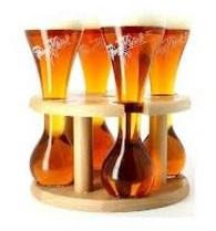 Подставка деревянная Pauwel Kwak (на 4 бокала) + 4 колбы Kwak