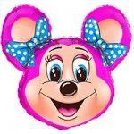 Мышка девочка (2 цвета) фольгированный шар с гелием