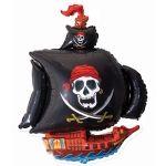 Пиратский корабль (2 цвета) фольгированный шар с гелием