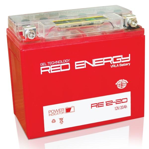 Аккумуляторная батарея АКБ RED ENERGY (РЭД ЭНЕРДЖИ) GEL 1220 Y50-N18L-A3, YTX24HL-BS, YTX24HL 20Ач о.п.
