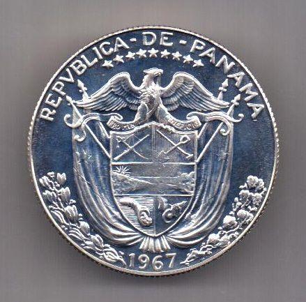 1 / 2 бальбоа 1967 г. UNC. Панама