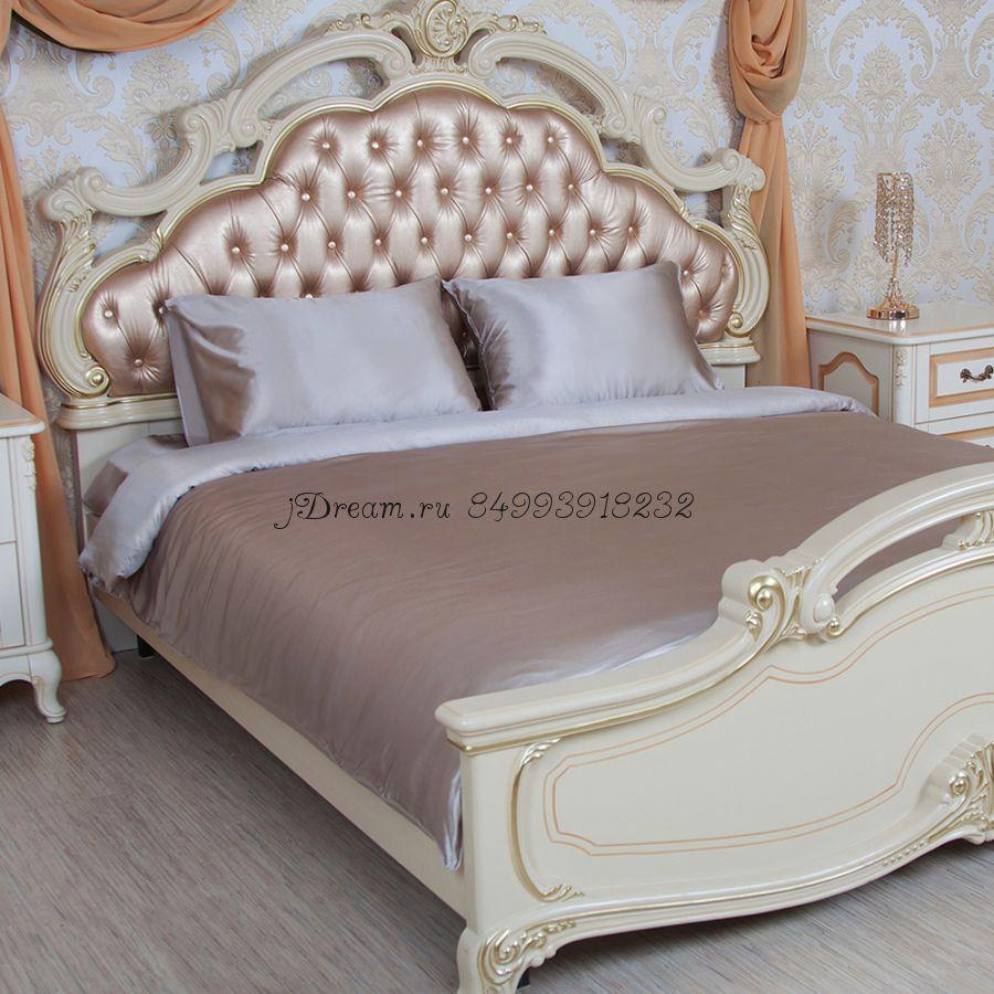 Шелковое постельное белье Имбирный Латте