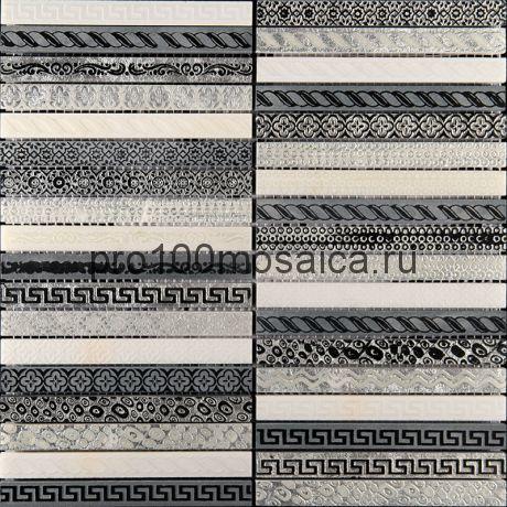 GLN-4. Мозаика 15*148*10, серия GOLDEN LINE,  размер, мм: 300*300 (Skalini)
