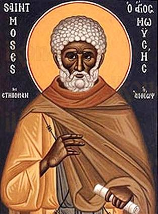Икона Моисей Мурин (рукописная)