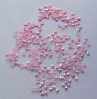 Стразы для дизайна ногтей голограммные (нежно-розовые) 1000 штук