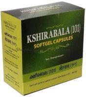 Кширабала масло (101) в капсулах Коттаккал Арья Вайдья Сала / AVS Kottakkal Kshirabala (101) Softgel Capsules