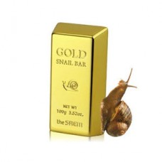 SAEM Snail Мыло для умывания с экстрактом золота, муцина улитки, оливы 100г Gold Snail Bar