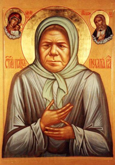 Пелагея Рязанская (рукописная икона)