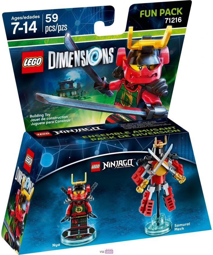 LEGO Dimensions 71216 - Lego Ninjago Masters of Spinjitzu (Nya, Samurai Mech)