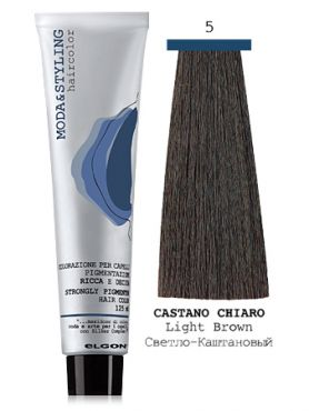 Elgon MODA&STYLING Перманентная крем-краска  5 Светло-каштановый