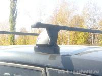 Багажник на крышу Opel Meriva B 2010-..., Lux, прямоугольные стальные дуги