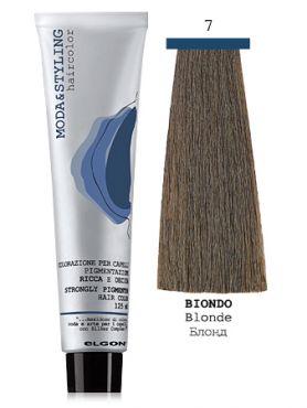 Elgon MODA&STYLING Перманентная крем-краска 7 Блонд
