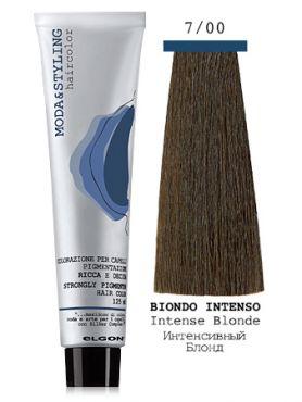 Elgon MODA&STYLING Перманентная крем-краска 7/00 Блонд интенсивный