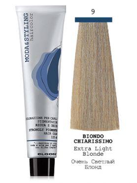 Elgon MODA&STYLING Перманентная крем-краска  9 Очень светлый блонд