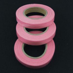 `Флористическая лента (тейп лента), ширина 12 мм, цвет розовый