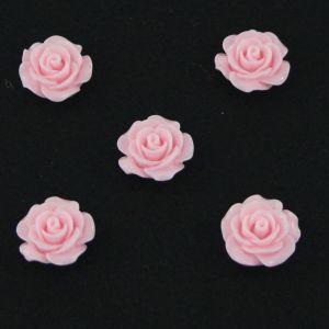 "Кабошон ""Розочка"", пластик, 19 мм, цвет - светло--розовый, 1уп=50шт"