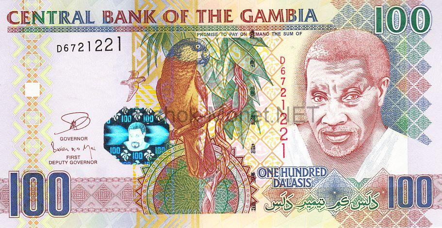Банкнота Гамбия 100 даласи 2013 год