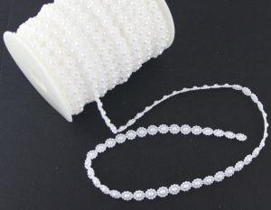 `Полубусины на нитке, диаметр бусин 10 мм, цвет белый