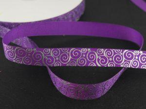 Лента репсовая с рисунком, ширина 22 мм, длина 10 метров цвет: фиолетовый, Арт. ЛР5194-2