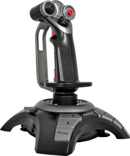 Геймпад (рычаг джойстик) Defender Cobra R4 4 оси, 12 кнопок, вибрация