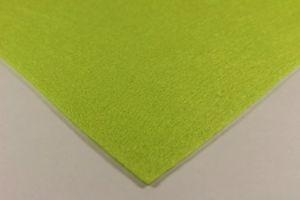 Фетр листовой, толщина 1 мм, размер 30х30 см, цвет №10 лайм (1уп = 4 листа)