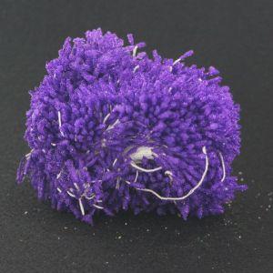 """`Тычинки """"стеклярус"""" двухсторонние, размер 2х60 мм, цвет фиолетовый, 1 уп = 70-80 тычинок"""