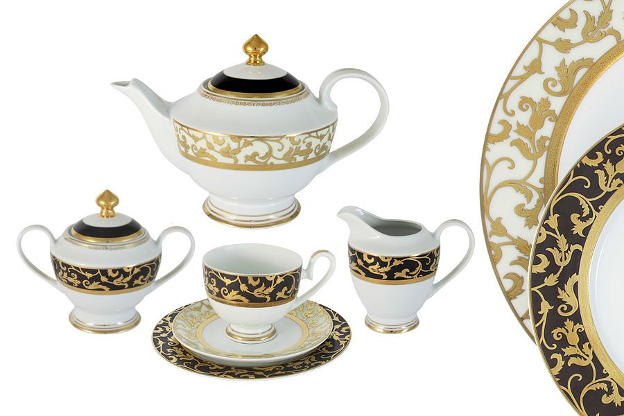 """Чайный сервиз на 6 персон """"Толедо"""", 23 пр."""