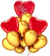 Набор гелиевых шаров Три сердца