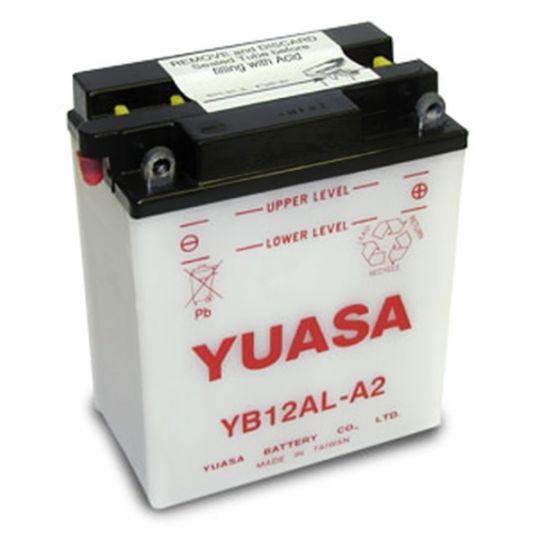 Мото аккумулятор АКБ YUASA (Юаса) YB12AL-A2 с электролитом 12Ач о.п.