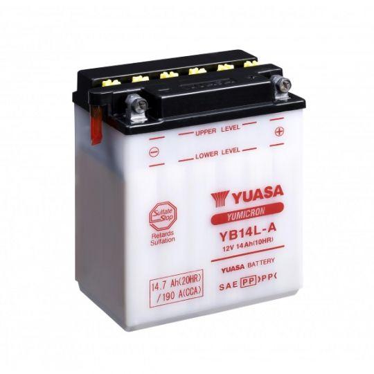 Мото аккумулятор АКБ YUASA (Юаса) YB14L-A 14Ач о.п.