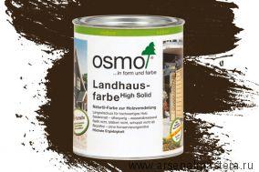 Непрозрачная краска для наружных работ Osmo Landhausfarbe 2607 темно-коричневая 0,75 л