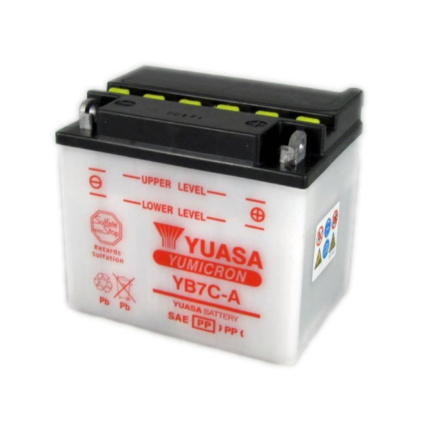 Мото аккумулятор АКБ YUASA (Юаса) YB7C-A 8Ач о.п.