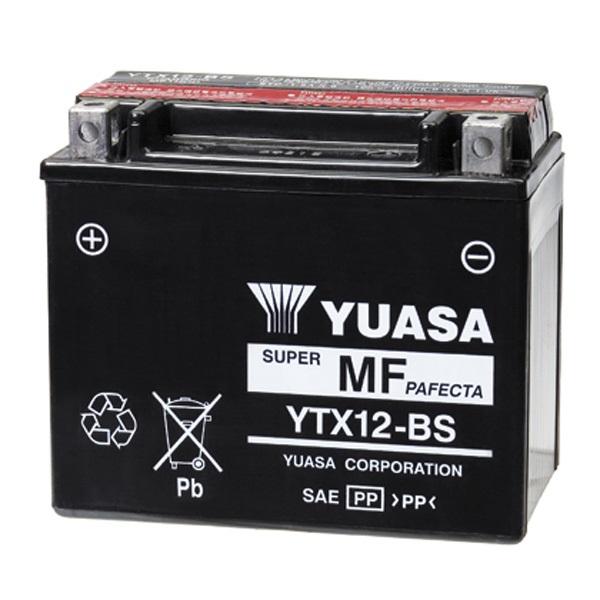 Мото аккумулятор АКБ YUASA (Юаса) YT12A-BS 9,5 Ач п.п.