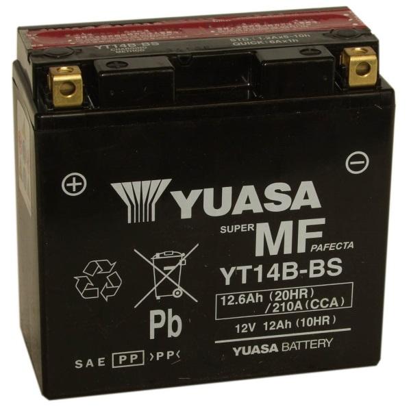 Мото аккумулятор АКБ YUASA (Юаса) YT14B-BS 14-B4 12Ач п.п.