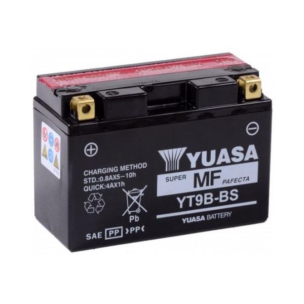 Мото аккумулятор АКБ YUASA (Юаса) YT9B-BS 9B4 8Ач п.п.
