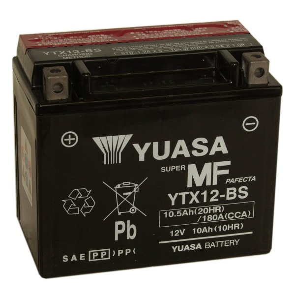 Мото аккумулятор АКБ YUASA (Юаса) YTX12-BS 10Ач п.п.