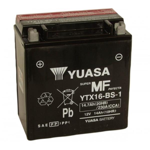 Мото аккумулятор АКБ YUASA (Юаса) YTX16-BS-1 14Ач п.п.
