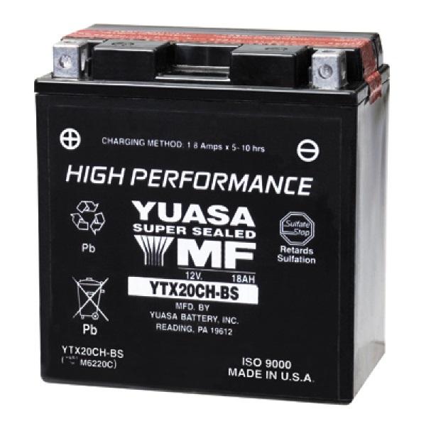 Мото аккумулятор АКБ YUASA (Юаса) YTX20CH-BS 18Ач п.п.