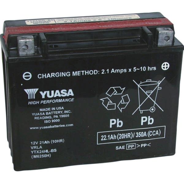 Мото аккумулятор АКБ YUASA (Юаса) YUASA YTX24HL-BS Y50-N18L-A, A 3 21Ач о.п.