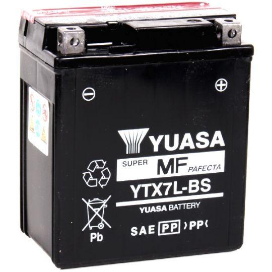 Мото аккумулятор АКБ YUASA (Юаса) YTX7L-BS 6Ач о.п.
