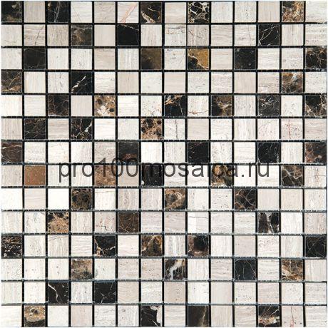 MT-22-20P (M022+M031G-20P) Мозаика Мрамор 20*20 MIX 305*305*10 мм (NATURAL)