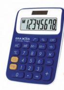 """Калькулятор настольный """"Eraxan"""", 8 разрядов, цв. бело-синий (арт. EX-100-8BL)"""