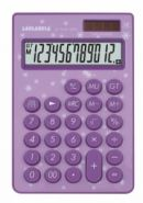 """Калькулятор настольный """"LP-1010-12PR"""", 12 разрядов, сиреневый (арт. LP-1010-12PR) (12548)"""
