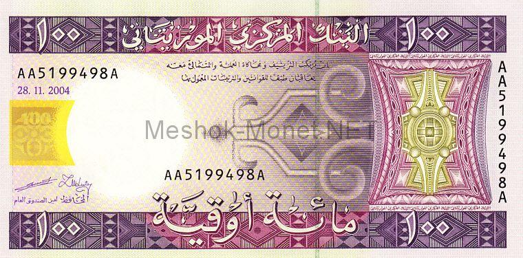 Банкнота Мавритания 100 угия 2004 год