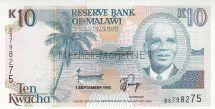 Банкнота Малави 10 квача 1990 год
