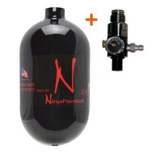 Баллон Ninja Black 68ci (1,1л) + Регулятор PE 4500 psi