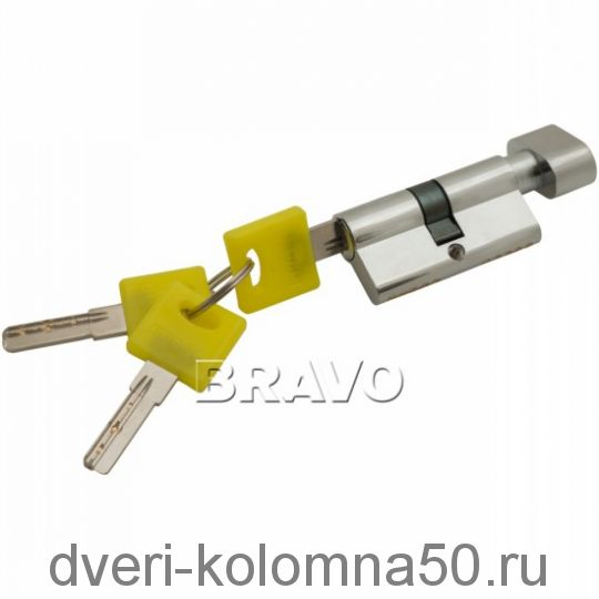 Цилиндр Bravo ZF-60-30/30 ключ/фиксатор
