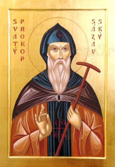 Икона Прокопий Сазавский (рукописная)