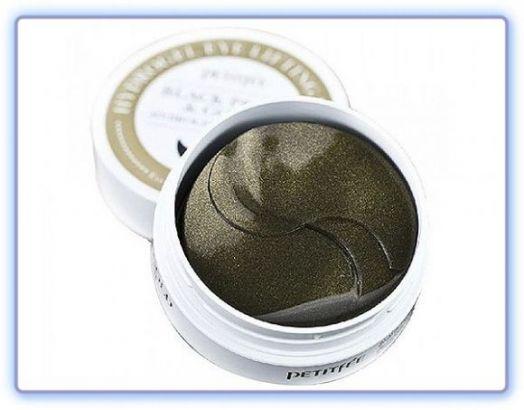 Патчи для глаз с пудрой черного жемчуга и золотом Petitfee Hydro Gel Eye Patch Black Pearl & Gold