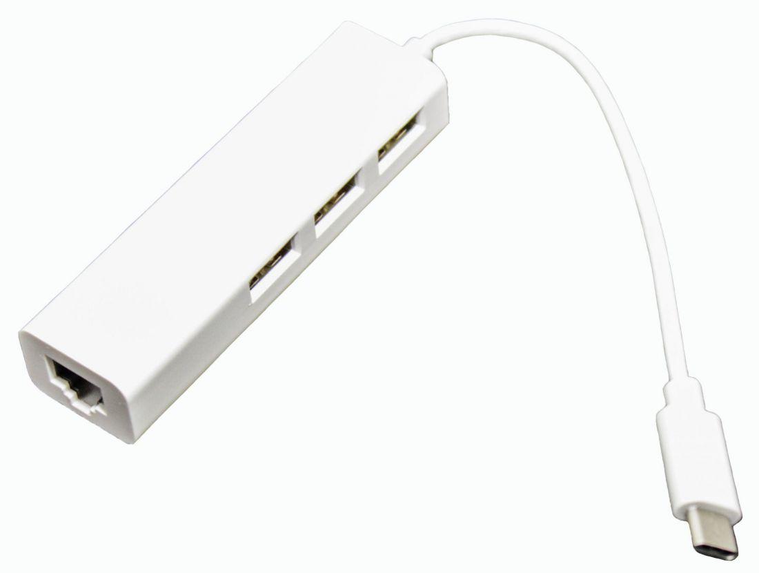 Хаб USBC 3xUSB+Ethernet(RJ-45)